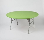 Lime green elastic tablecover-cloth for 60 inch round table    KC60PK-L kwik cover