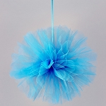 Tulle Flower Ball TURQUOISE