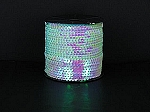 Sequin roll 50 yards OPALESCENT WHITE