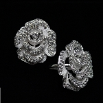 Brooch Napkin Ring Holder Rose (4pcs) 80-0239