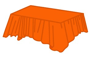 "54""x108"" plastic rectangle tablecover ORANGE"
