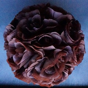 Brown 10 Inch Silk Flower Pomander Kissing Balls