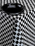 "54""x108"" rectangular check tablecloth BLACK/WHITE  39197"