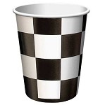 52197 checked paper BLACK/WHITE 9 oz hot/cold cup  25 pieces
