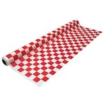 "Check red/white plastic banquet roll 40""x100'   #CS-4010RW"