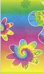 Birthday tablecloth TIE-DYE plastic 54x84 UI27403