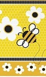 Birthday tablecloth BUSY BEES plastic 54x94 UI43423