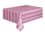 Stripe tablecloth PINK plastic 54x108 UI50272