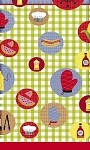 BBQ tablecloth plastic 54x108 U40753