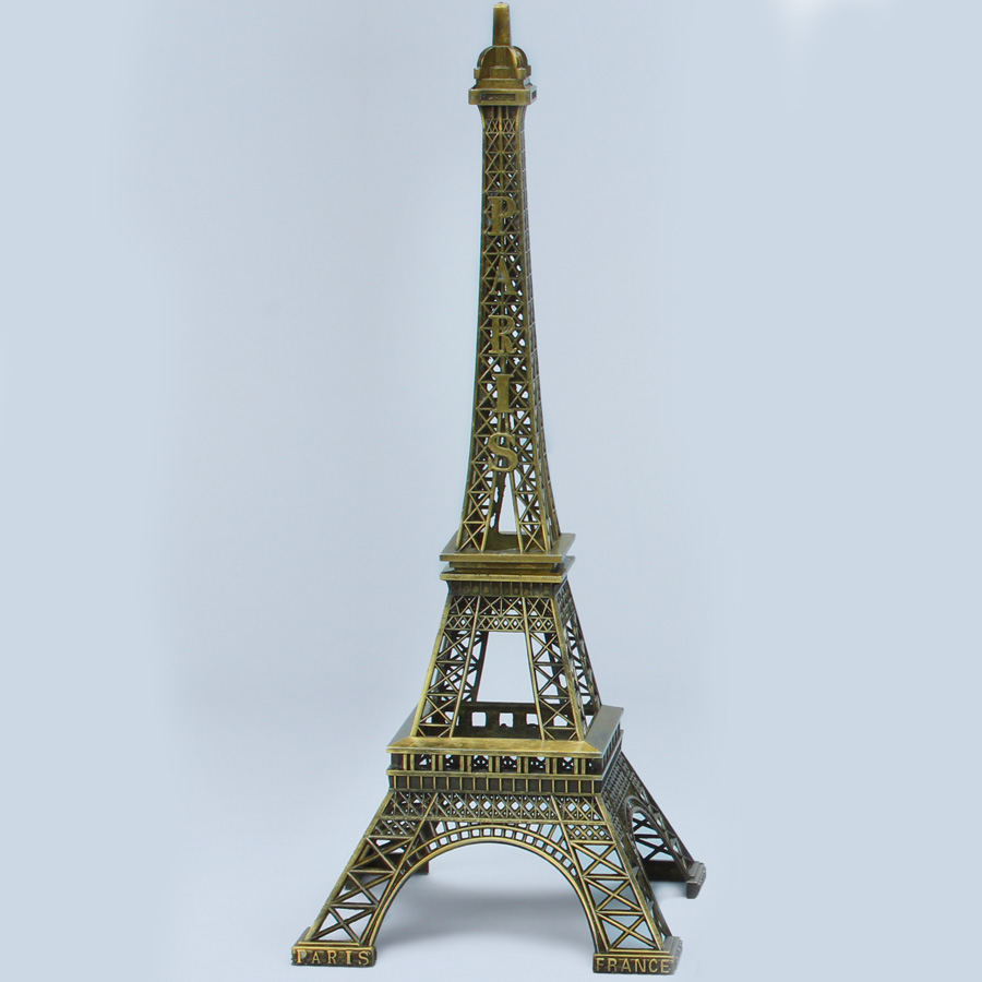 Antique Gold Metal Eiffel Towers