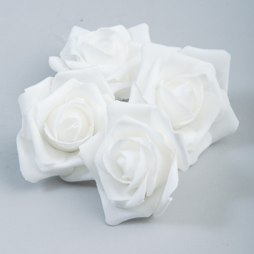 White Foam roses (12 count)