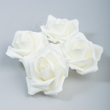 Ivory Foam roses (12 count)
