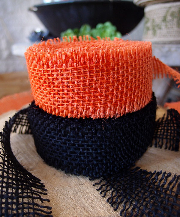 Orange Jute ribbon