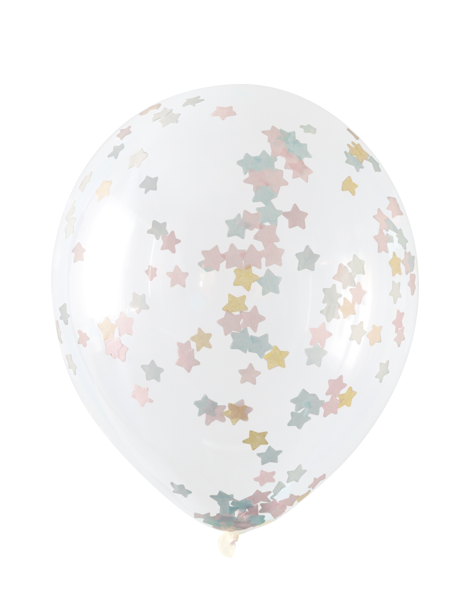 Star confetti latex balloons