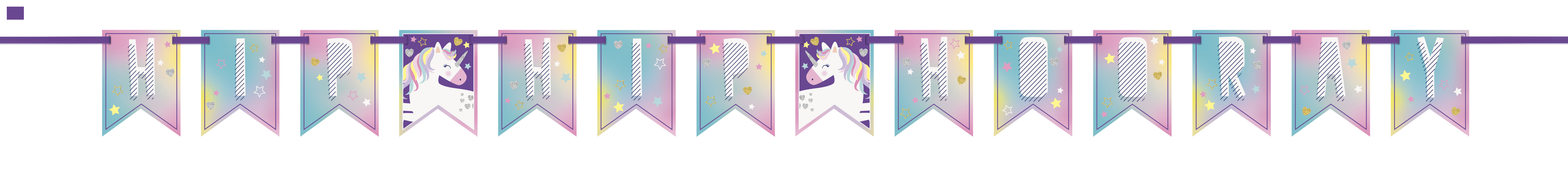 Hip Hip Horray Unicorn Banner