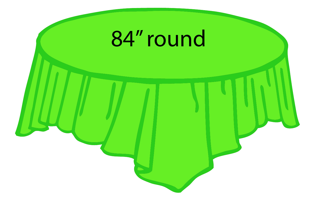Lime Green 84 Inch Round Tablecloths Tablecovers Plastic