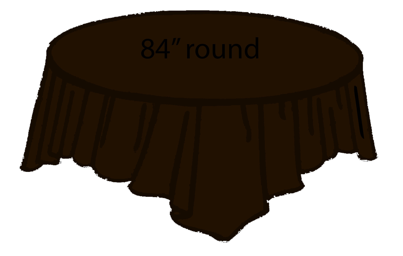 Chocolate Dark Brown 84 Inch Round Tablecloths Tablecovers