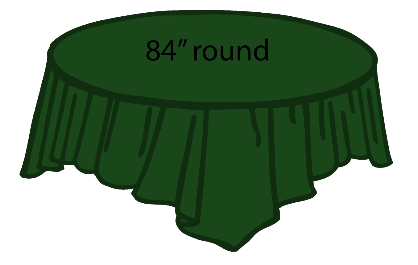 Forest Green Hunter Green 84 Inch Round Tablecloths