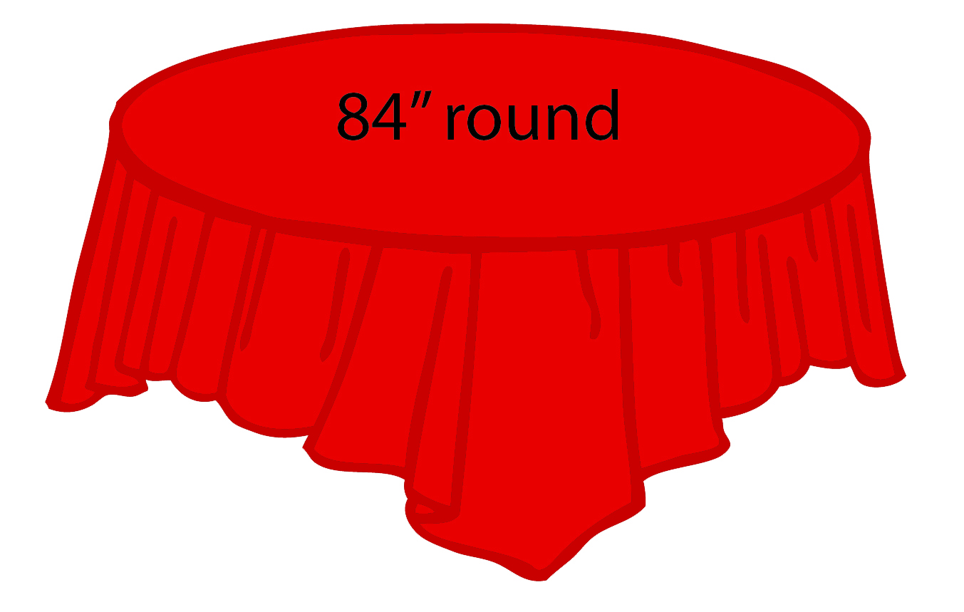 Red 84 Inch Round Tablecloths Tablecovers Plastic
