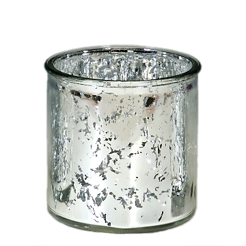 LARGE Silver Mercury candle holder