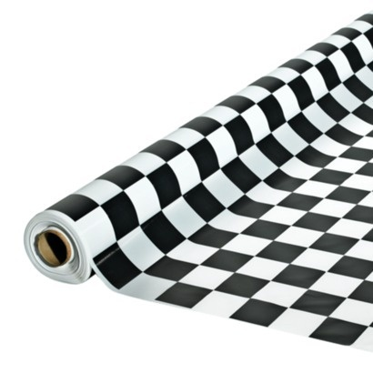 Beau Black White Check Table Cloths