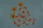 Organza flowers ORANGE