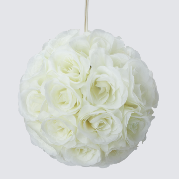 IVORY Silk pomander flower ball