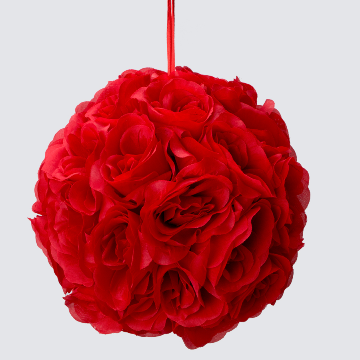 RED Silk pomander flower ball