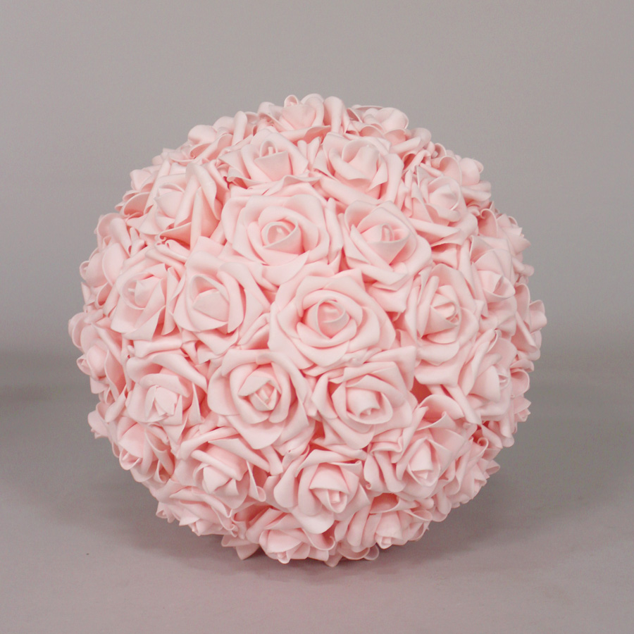 Foam Rose Flower Ball PINK