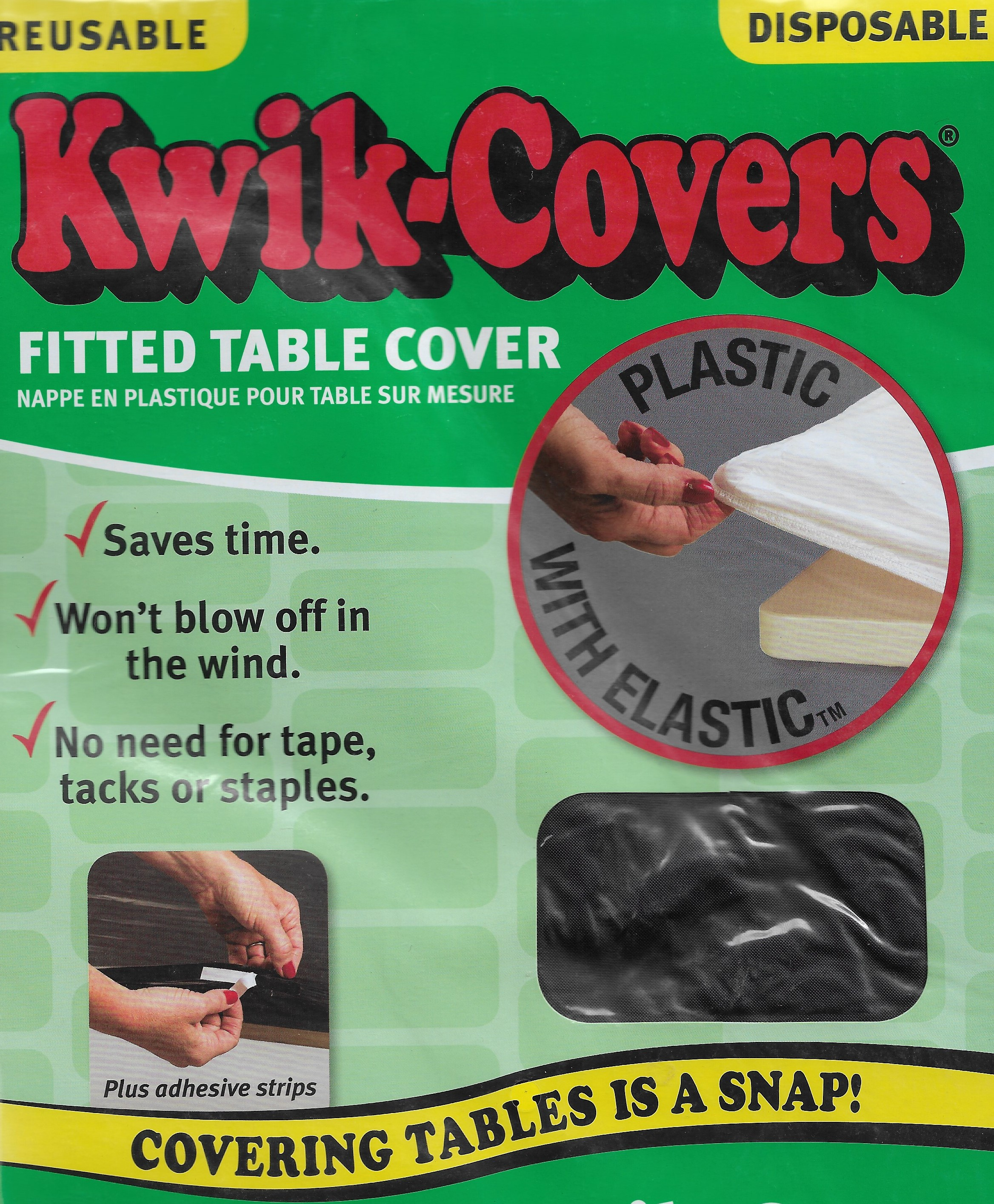 Kwik Covers elastic fitted table cloths