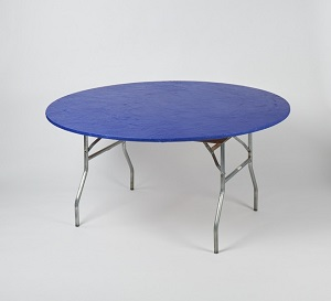 Stay Put Plastic Fitted Table Covers In Red Royal Blue White And