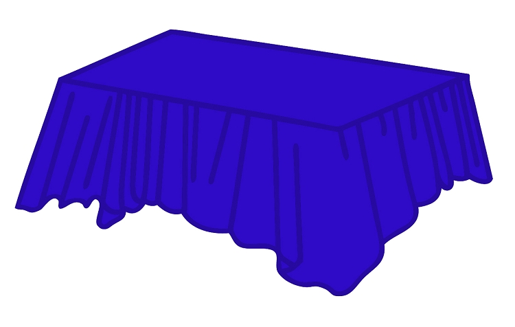 Royal Blue Heavy Duty Plastic Table Covers Rectangular
