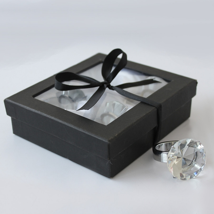 Crystal Napkin Ring Holder (4pcs)