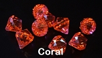 Acrylic diamonds CORAL