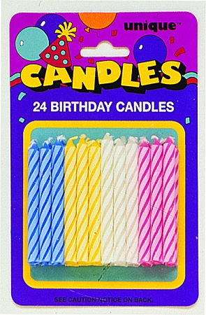 MULTI COLORED Spiral Candles