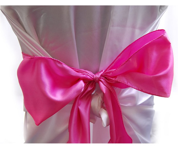 FUCHSIA  satin chair bows (6pcs/bag)
