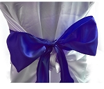 PURPLE satin chair bows (6pcs/bag)