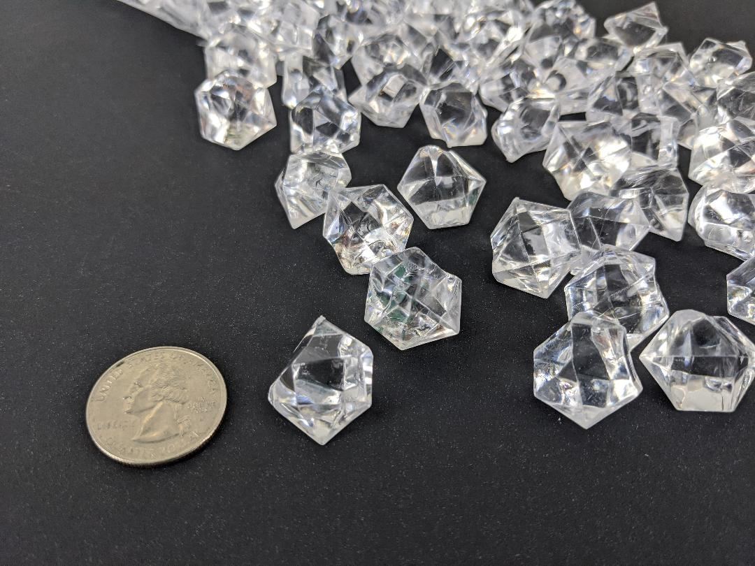 Clear acrylic rocks