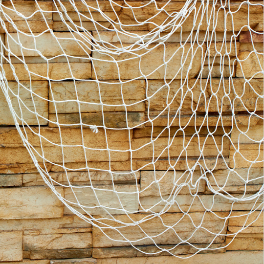 Decorative fish net White