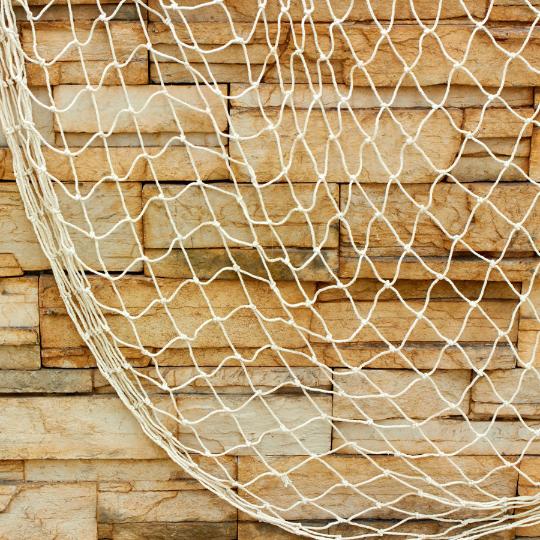 Natural decorative fish net for Fish netting decor