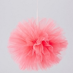 CORAL Tulle Flower Ball