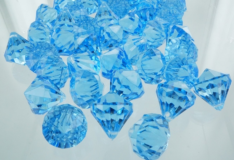 Acrylic diamonds TURQUOISE close out