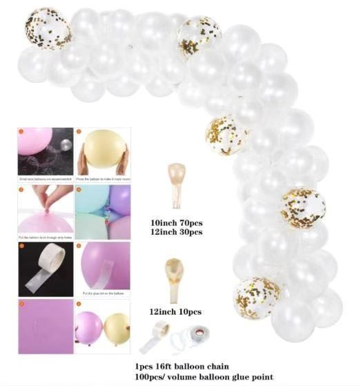 White Balloon garland