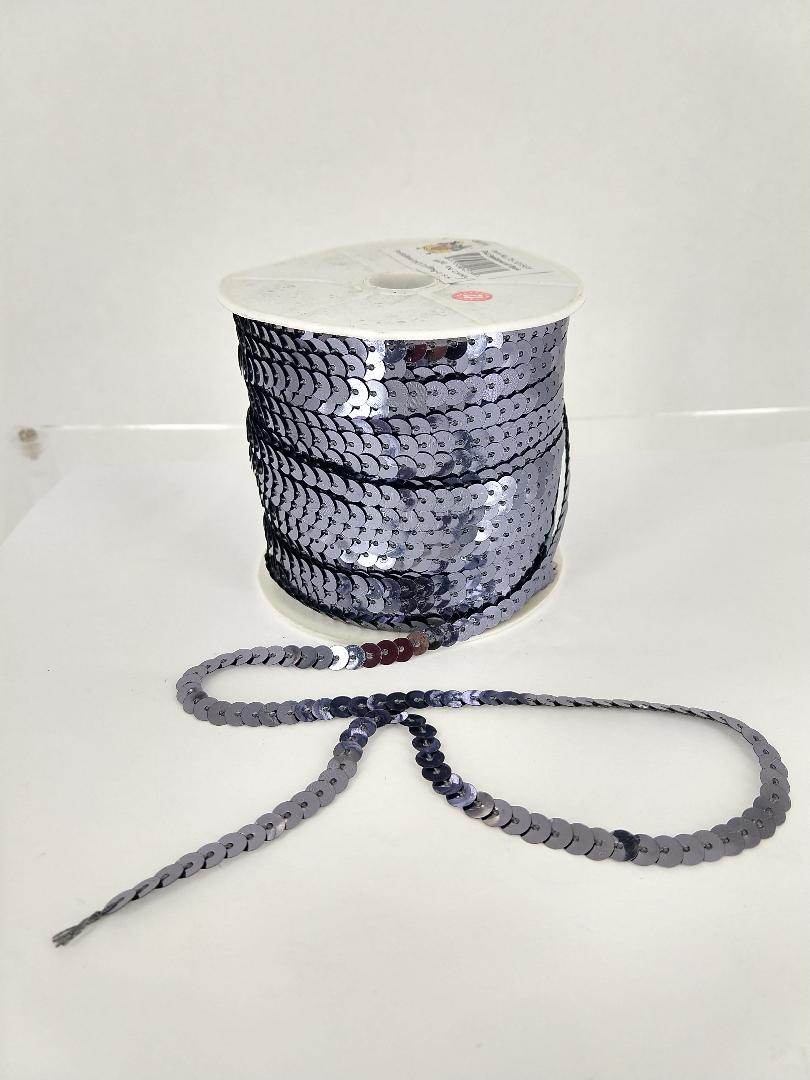 GREY Sequin roll 100 yards