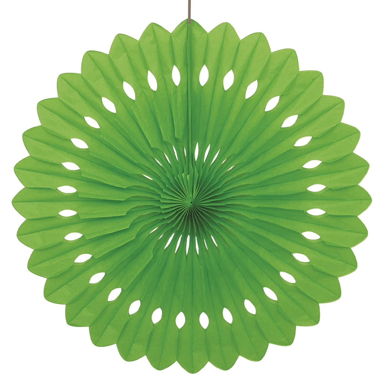 LIME 16 inch tissue paper fan