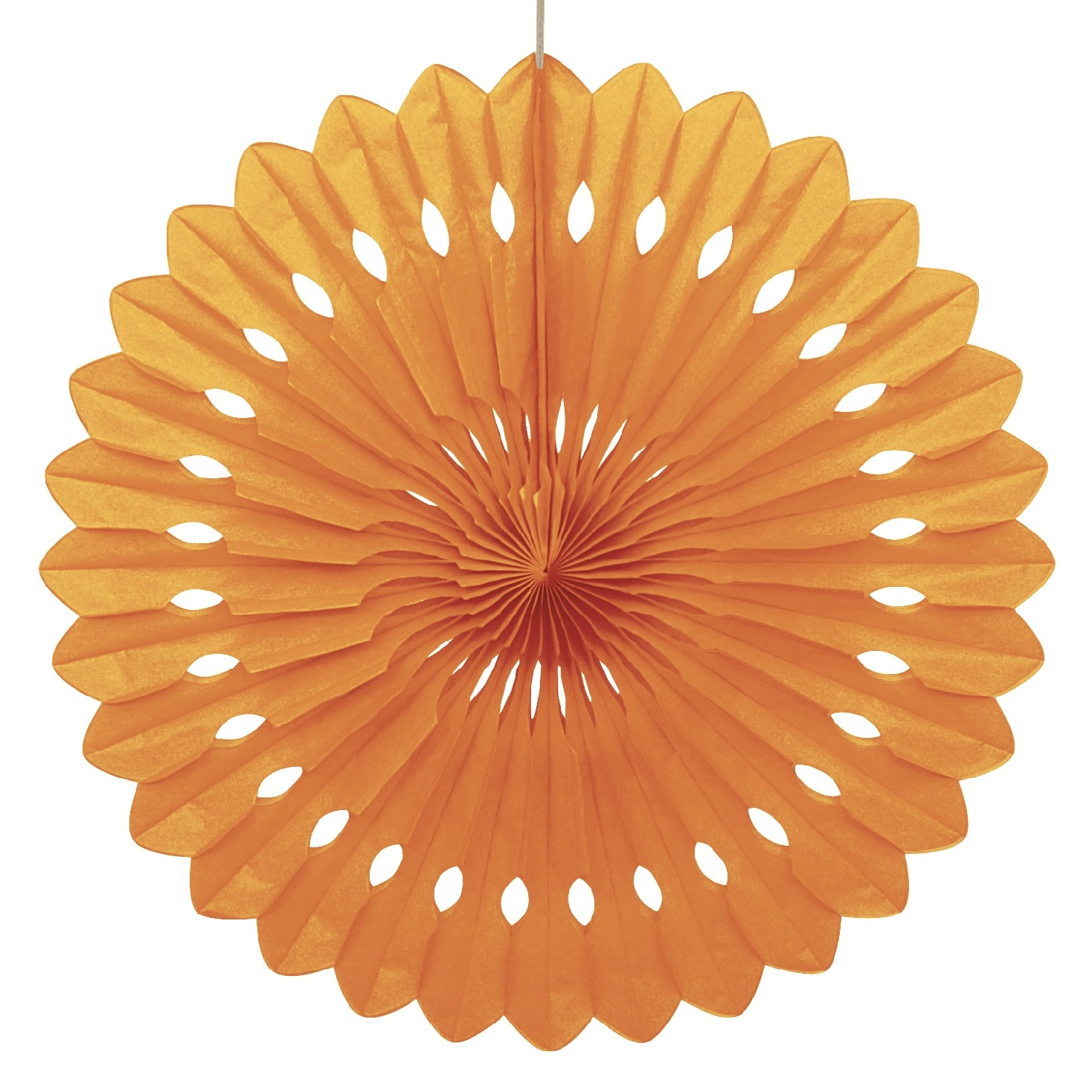 ORANGE 16 inch tissue paper fan