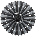 16 inch tissue paper fan BLACK-SILVER UI62849