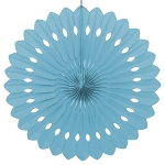 LIGHT BLUE 16 inch tissue paper fan