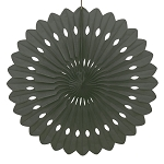 BLACK 16 inch tissue paper fan