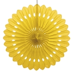 YELLOW 16 inch tissue paper fan